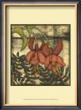 Mini Fuchsia and Silhouette II Prints by Jennifer Goldberger