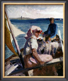 Afternoon Sea Breeze Print by Albert Edelfelt