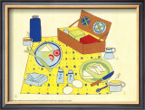Picnic Basket Prints by Lorraine Cook