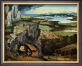 Saint Jerome on the Road Print by Joachim Patenir