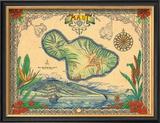 Island of Maui Framed Giclee Print by Steve Strickland