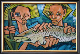 Cubist Latin Fish Framed Giclee Print by Charles Glover