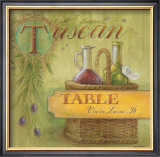 Tuscan Table Posters by Angela Staehling