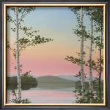 Cooper Sunset Birches Art by Elissa Gore
