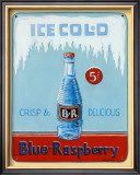 Blue Raspberry Poster by Gregory Gorham