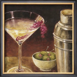 Martini with Grapes I Art by Eric Barjot