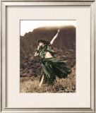 Primitive Hula, Hula Girl Poster by Alan Houghton