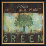 Green Planet Poster by Wani Pasion