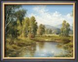 River Landscape Print by H. Buchner