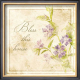 Florals, Bless This House Prints by Jessica Vonammon