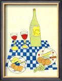 Wine and Cheese Picnic Posters by Lorraine Cook
