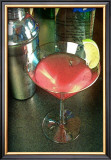 Cosmopolitan Cocktail Framed Giclee Print by Steve Ash