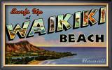 Waikiki Beach Framed Giclee Print