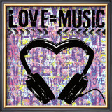 Love Music Prints by Louise Carey