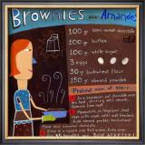 Brownies wirh Almonds Prints by Céline Malépart