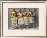 Hula Dancers Framed Giclee Print