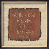 Faith in God Poster by Karen Tribett