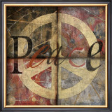 Symbol of Peace 4-Patch Posters by Benny Diaz