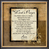 The Lord's Prayer Print by Jennifer Pugh