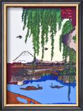 Yatsumi Bridge Framed Giclee Print by  Hiroshige II