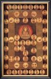 Buddha Circle Framed Giclee Print by Jyakuchu Ito