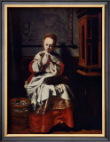Jeune Fille Cousant Poster by Nicolas Maes