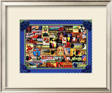 Vinyard Labels Framed Giclee Print by Kate Ward Thacker