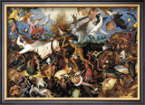The Fall of the Rebel Angels, c.1562 Art by Pieter Bruegel the Elder
