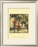 Mini Fuchsia and Silhouette III Prints by Jennifer Goldberger