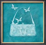 Butterfly Motif Purse Art by Deb Garlick