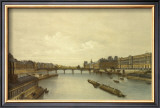 View of the Louvre from the Seine Prints by G.Ph. Benoist