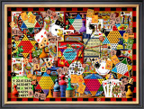 Cards Dice and Game Boards Framed Giclee Print by Kate Ward Thacker
