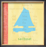 Vintage Toys Sailboat Poster by Paula Scaletta