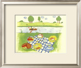 Lakeside Picnic Print by Lorraine Cook