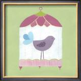 Patchwork Birdcage I Art by Erica J. Vess