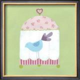 Patchwork Birdcage II Art by Erica J. Vess