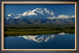 Mt, McKinnley Reflection, Alaska Framed Giclee Print by Charles Glover