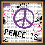 Peace Is Prints by Louise Carey