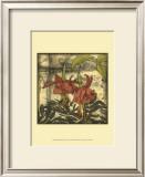 Mini Fuchsia and Silhouette I Prints by Jennifer Goldberger
