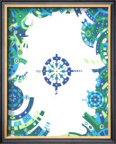 Color Melody: Blue Image and Life of People Machine Cogwheel Framed Giclee Print by Kyo Nakayama