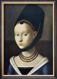 Portrait de Jeune Femme Prints by Petrus Christus