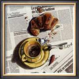 Cafe et Croissant Prints by Lionel Chiche-portiche