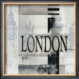 Tribute to London Print by Marie Louise Oudkerk