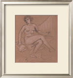 Sitting Nude Study Poster by Eric Young