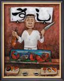Sushi-Man Framed Giclee Print by John Howard