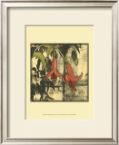 Mini Fuchsia and Silhouette IV Print by Jennifer Goldberger