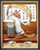 Chinese Noodle Chef Framed Giclee Print by John Howard