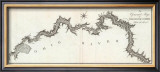 General Map of the River Ohio, Plate 3, c.1796 Framed Giclee Print by George Henri Victor Collot