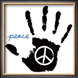 Peace Hand Prints by Louise Carey