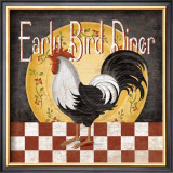 Early Bird Diner Print by Kathy Middlebrook